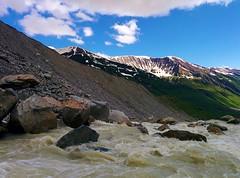 Great Enguri Source (Tako Khinchakadze) Tags: great beautiful enguri source headwater svaneti view georgia mountains snow clouds river shkhara ushguli mylove