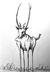 Dear, Deer.... (ETt_) Tags: cartoon ink funny deer dear drawing sketch