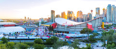 Calgary Stampede Sunset 2018 (Bluesky251) Tags: alberta architecture beautiful bow bowriver bridge bright buildings calgary canada cityscape clear colorful commerical community daylight daytime downtown forest grass green hot landscape leaves light natural nature outdoor outside pedestrian popular red residential river saddledome season sky sun sunset tour tower travel trees vacation visitor water weather white yellow view