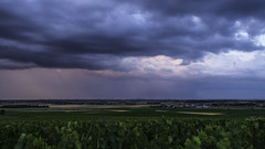 Sunset on the storm (ZeGaby) Tags: champagne colors eolienne landscape marne naturephotography orages paysage pentax2470mm pentaxk1 storm vignobles vineyards cramant grandest france fr