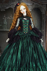 Young Victoria (AyuAna) Tags: bjd ball jointed doll dollfie ayuana design minidesign handmade ooak clothing clothes dress set outfit gown robe vetement fashion couture sewing sewingfordolls historical victorian style sadol love60 yena whiteskin