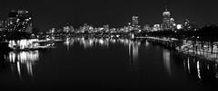 Boston MA at Night. (BimalNepal) Tags: bostonskyline cambridge charlesriver ma night boston buildings lights massachusetts river