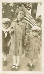 Happy Fourth of July (sctatepdx) Tags: snapshot vintagesnapshot oldsnapshot vernacular usflag americanflag vintageamericanflag vintagecoats vintagechildrensshoes vintageshoes