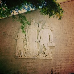 20180709-115710-1 (alnbbates) Tags: july2018 downtowntulsa sculpture art publicart basrelief