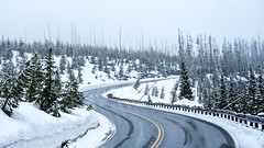 Snowy road in eastern Yellowstone (Alex&HisNikon) Tags: snow road yellowstone nationalpark wyoming