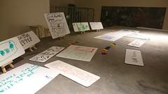 Leeds Art Gallery: Joseph Beuys (newpixieartist) Tags: artisteducator lag leeds leedsartgallery beuys josephbeuys constellationofideas whiteboard blackboard childrensdrawings