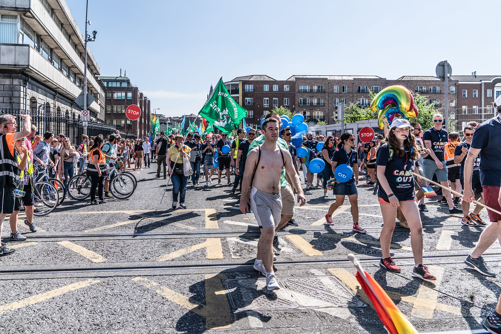 ABOUT SIXTY THOUSAND TOOK PART IN THE DUBLIN LGBTI+ PARADE TODAY[ SATURDAY 30 JUNE 2018] X-100082