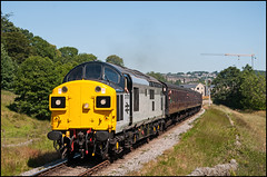 37075 Haworth (bontybermo402) Tags: kwvr50 kwvr keighley oxenhope worth valley ee 37075 britishrail