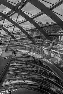 Spiral Ramp of Reichstag dome , Berlin, Germany