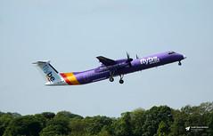 G-JEDW de Havilland Canada DHC-8-402 Dash 8, flybe, Edinburgh Airport, Edinburgh, Scotland (Kev Slade Too) Tags: gjedw dehavillandcanada dhc dhc8 dash8 be768 egph edinburghairport edinburgh scotland