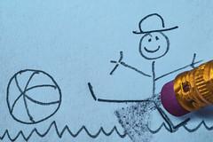 #MacroMondays #Eraser(s) (Mari Van Cauteren) Tags: macromondays drawing football blue erasers
