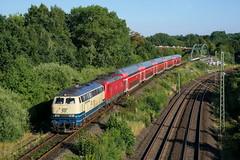 P1640263 (Lumixfan68) Tags: eisenbahn züge loks baureihe 218 conny westfrankenbahn deutsche bahn db regio doppelstockzüge