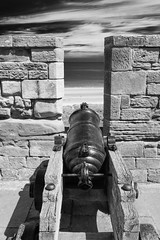 Stumpy Barrel (alan.dphotos) Tags: bamburgh castle sea north canon stumpy long monochrome blackandwhite black white landscape relics naval guns heavy ramparts