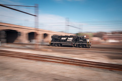 WEEEEEEEE! (marko138) Tags: cpharrisburg emd gp382 harrispan harrisburg harrisburgline lightpower ns5179 norfolksouthern pennsylvania blur lightengines locomotive mainline pan railfan railroad railroadphotography slowshutter train winter
