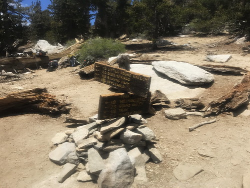 A trail camp above Wellman Divide..starting the final push to the
