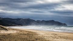Day at the Beach (David Recht) Tags: newzealand oceanbeach hawkesbay nz beach stroll clouds sky sea mist