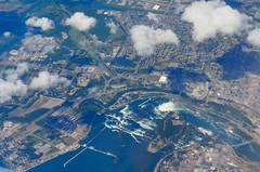NiagaraFallsFromTheAir-closer (Devon McSee) Tags: new york niagara aerial
