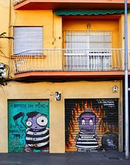 Spain: Málaga street art (Henk Binnendijk) Tags: málaga malaga españa spain spanje window andalusia andalucia andalucía murals protest paintingisacrime wall doors balcony urbanart wallart