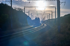 photo highlights through an old manual lens on a railroad background (uiriidolgalev) Tags: photo highlights through an old manual lens railroad background