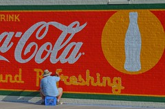 Refreshing (clarkcg photography) Tags: sign advertisement signposteradvertisement wall brick painted coke cocacola cola red painting refreshing hot summer day crazytuesdaytheme 7dwf