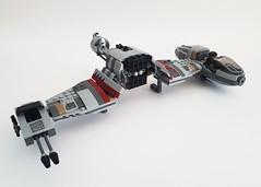 V-4X-D SkiSpeeder MOD (kozikyo86) Tags: lego ski speeder star wars crait 75202 first order last jedi resistance poe leia luke skywalker atm6 moc mod modification