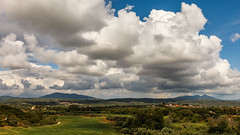 The hills of Messenia. (Kostas Karageorgiou) Tags: ef24105mmf4isiiusm iv mk mark 5d eos canon mountains thunderstorms trees course hills storm clouds landscape field golf holidays summer vacations peloponnese messenia greece