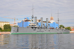 Cruiser Aurora (Ryan Hadley) Tags: cruiseraurora cruiser warship ship boat russianrevolution rivercruise cruise nevariver river stpetersburg russia europe worldheritagesite