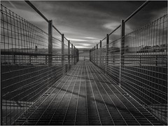 The Bridge... (mono) (zapperthesnapper) Tags: bridge footbridge blackandwhite mono monochrome monochromatic greyscale samsunggalaxya5