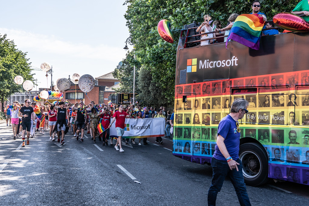 ABOUT SIXTY THOUSAND TOOK PART IN THE DUBLIN LGBTI+ PARADE TODAY[ SATURDAY 30 JUNE 2018] X-100121