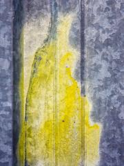 Test Site (jaxxon) Tags: 2018 d610 nikond610 jaxxon jacksoncarson nikon nikkor lens nikon105mmf28gvrmicro nikkor105mmf28gvrmicro 105mmf28gvrmicro 105mmf28 105mm macro micro prime fixed pro abstract abstraction metal galvanized metallic surface texturematerial industrial construction yellow paint spraypaint test spot testing decay weathered peelingpaint painted
