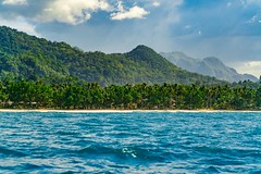 Sabang Beach (Daniel Zwierzchowski) Tags: philippines palawan islands beach mountains clouds paradise landscapephotography landscape travelling natgeotravel travel ngc natgeo sea waves nature sonyalpha sony alpha sel24105g a7rmk2 a7rii outdoor holidays palmtrees mountain sky water trees palm bay coast
