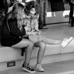 shared mobile fun (every pixel counts) Tags: 2018 berlin street city eu everypixelcounts blackandwhite smartphone capital 11 girl mobiledevice square youth bench berlinalive germany leg cellularphone móvil day daylight blackwhite