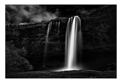 Seljalandsfoss A Long Distance Perspecctive (www.davidrosenphotography.com) Tags: waterfall water rocks iceland longexposure blackwhite bw