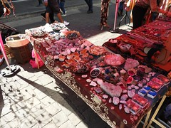 PRACTICAL MAGIC STALL (garydavidworthington) Tags: liverpool buildings boldstreet food music photography people city creative crafting stall giants crystals colour stone