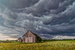 Barnstorm (Daniel000000) Tags: july summer barn sky storm new old farm wisconsin midwest nikon dslr d750 green field hay color stormy cloud clouds cloudy light landscape nature wood rural country