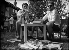 Brixit (Stephen Braund) Tags: brexit monochrome humour jenga