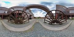 Zollverein-Pano, 1 (uwe1904) Tags: architektur bergbau da1017mmfisheye deutschland equirectangular essen gebäude industriekultur panorama pentaxk3 ruhrpott spivpano stadtlandschaft uwerudowitz zeche zechezollverein zollverein nrw d