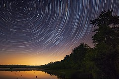 Time for a Revolution (Douglas Heusser Photography) Tags: heusser canon axis polaris north galaxy way milky astrophotography space nature landscape angle wide lens 14mm rokinon exposure long sky night rotation earth trails star big water forest state barrens pine jersey new nj lake oswego