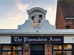 The Pipemakers Arms (sixthland) Tags: cameraphone facade iphonex pediment pipe pipemakersarms publichouse relief rye smoking