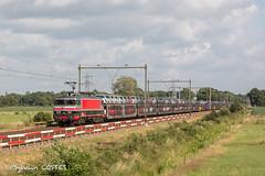 La 1618 de RailLogix avec un train de Peugeot 108 (Sylvain COSTES) Tags: 160017001800 autrespays hollande ns soest trains train