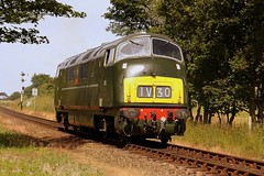 A tight fit. (Chris Baines) Tags: warship class 42 d830 onslaught north norfolk railway diesel gala