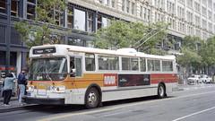 1998-07 San Francisco Trolleybus Nr.5147 (beranekp) Tags: usa california san francisco trolleybus trolebus trolley trolejbus obus filobus tradbus 5147 muni