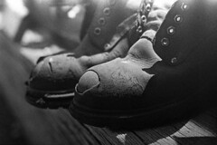 Steel (4foot2) Tags: hastings hastingsbeach steeltoecaps boots worn oldboots asahipentaxsv supertakuma55mmf18 orwo orwonp7 np7 oldfilm outofdatefilm expiredfilm experimental bw blackandwhite monochrome mono hc110 kodak kodakhc110 2018 fourfoottwo 4foot2 4foot2flickr 4foot2photostream pentax
