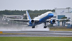 USAF C-32 departs Prestwick (Allan Durward) Tags: pik egpk prestwick glasgow scotland sam usaf c32 b757 boeing757 prestwickairport