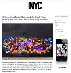 Frank Wore aka Wore IBM & more in Hackensack, NJ (LoisInWonderland) Tags: graffiti graffitiart graffitiburner graffitimural unionstreetpark hackensack nj newjersey jerseygraff frankwore woreibm