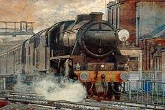Black 5 steam loco 44871 (v1) (por2able) Tags: t189 steamlocomotive black5 exeterstdavids textured devon landofnodstudios railway railroad