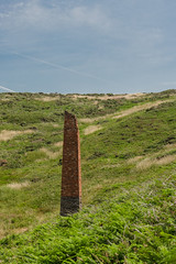 Mine chimney (mikeplonk) Tags: pembrokeshire westwales wales noltonhaven stbridesbay chimney colliery coalmine trefrane newgale stone brick ruin ruins abandoned nikon d5100 18140mm kitlens