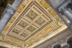 Grand ceiling (Tim Brown's Pictures) Tags: washingtondc capitolhill summer travel libraryofcongress thomasjeffersonbuilding historicbuilding architecture beauxarts greathall ceiling stainedglass washington dc unitedstates