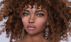 ZOE w. curls (Alea Lamont) Tags: ndmd women skins ethnic skin black female avatar afroamerican afro american african vista lia bento head ad proud mary hair earthstone earrings
