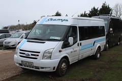 Stamp, Oylegate 10-WX-12239, Ford Transit at Cheltenham racecourse (majorcatransport) Tags: irishbuses stampoylegate fordtransit ford cheltenham